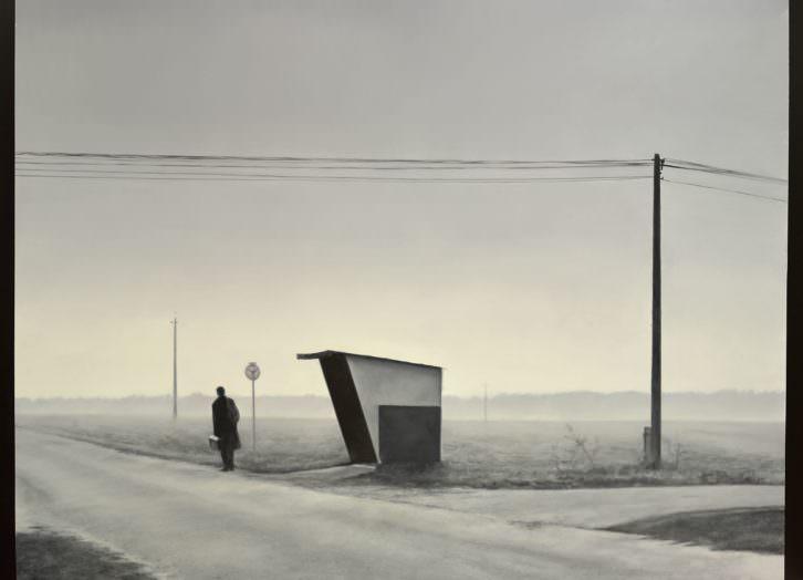On the road de Jose Antonio Ochoa. Ganador XXI Premio Nacional de Pintura