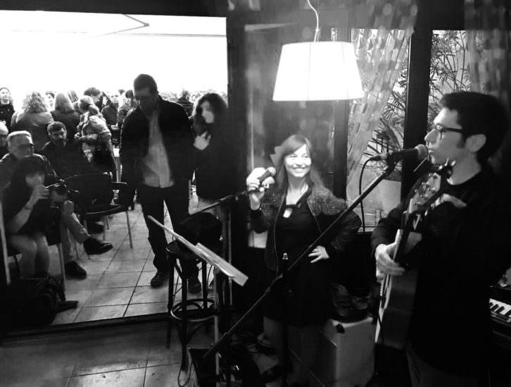 Un instante de la actuación de Petit Mal en 'El Ruso. III Festival de Arte y Música Ecléctica de Alarcón'. Fotografía cortesía de Marisa Giménez.
