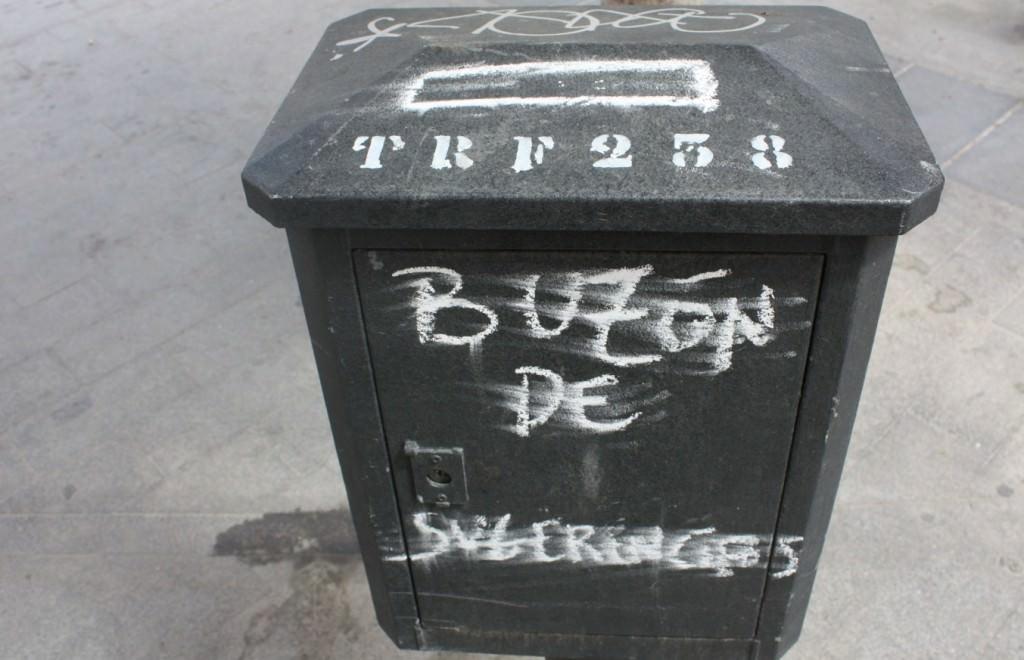 Pintada callejera en el barrio de Russafa en Valencia. Fotografía: Begoña Siles