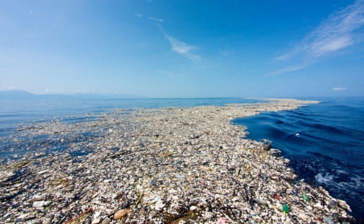 El gran parche de basura del Pacífico. Imagen cortesía SkyAlert.