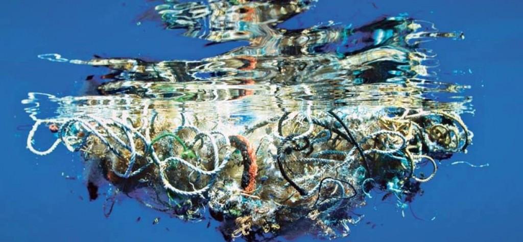 Isla de basura del Pacífico.  Imagen cortesía El Telégrafo.