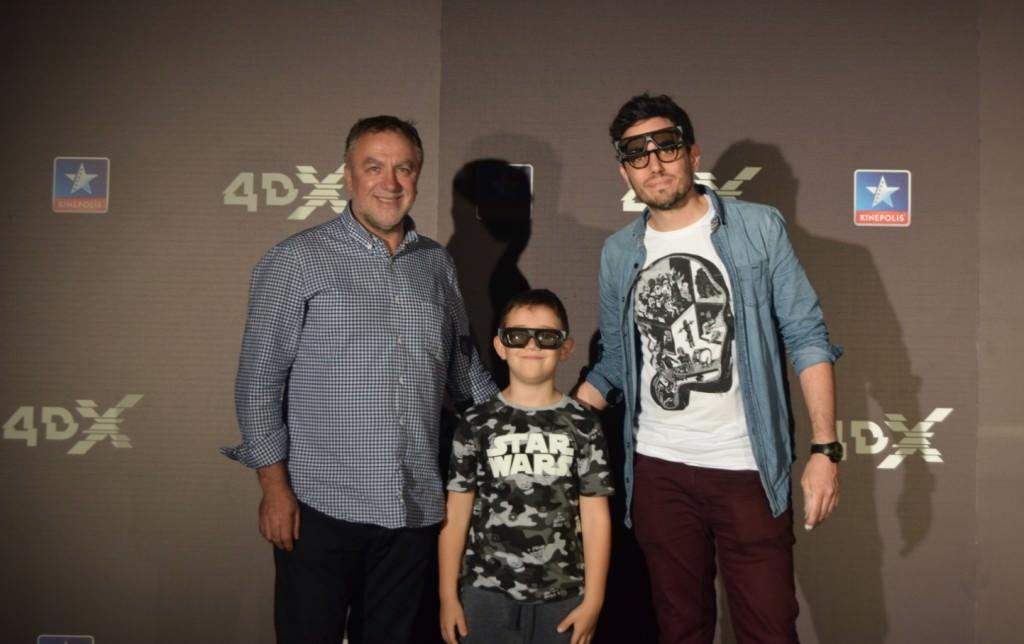 El productor Ximo Pérez y el director Nacho Ruipérez en la inauguración de la Sala 4DX de Kinépolis. Foto: Iris Montoya.