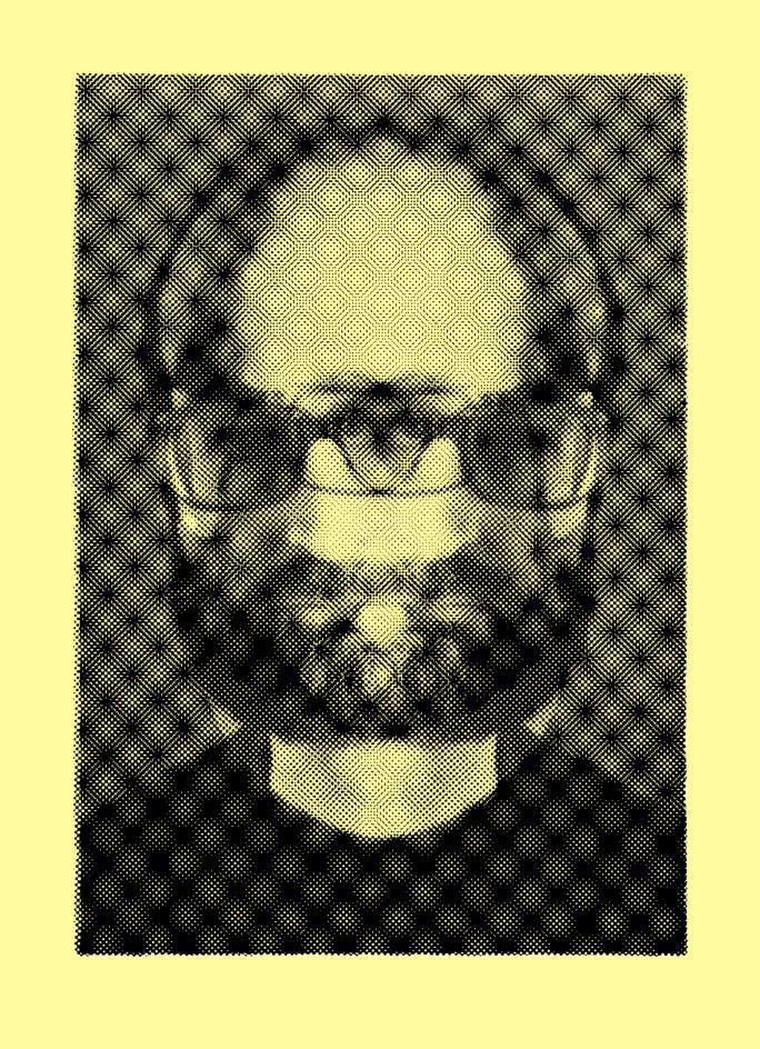 Imagen de la obra 'Autorretrato óptico', del artista Luis Gordillo, que se exhibirá en la exposición 'Autorreferencialidad y otros Narcisismos', de la Galería Aural. Fotografía cortesía de LaVAC.