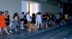 Día de la inauguración, Galeria Luis Adelantado (Valencia). Fotografía cortesía de Asun Bonilla