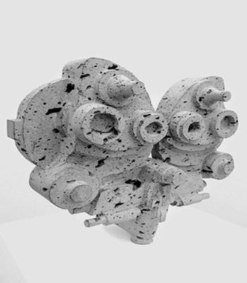 Unidad de refracción hecha con restos de basalto de Lluc Baños. Imagen realizada por Cristian Torada.