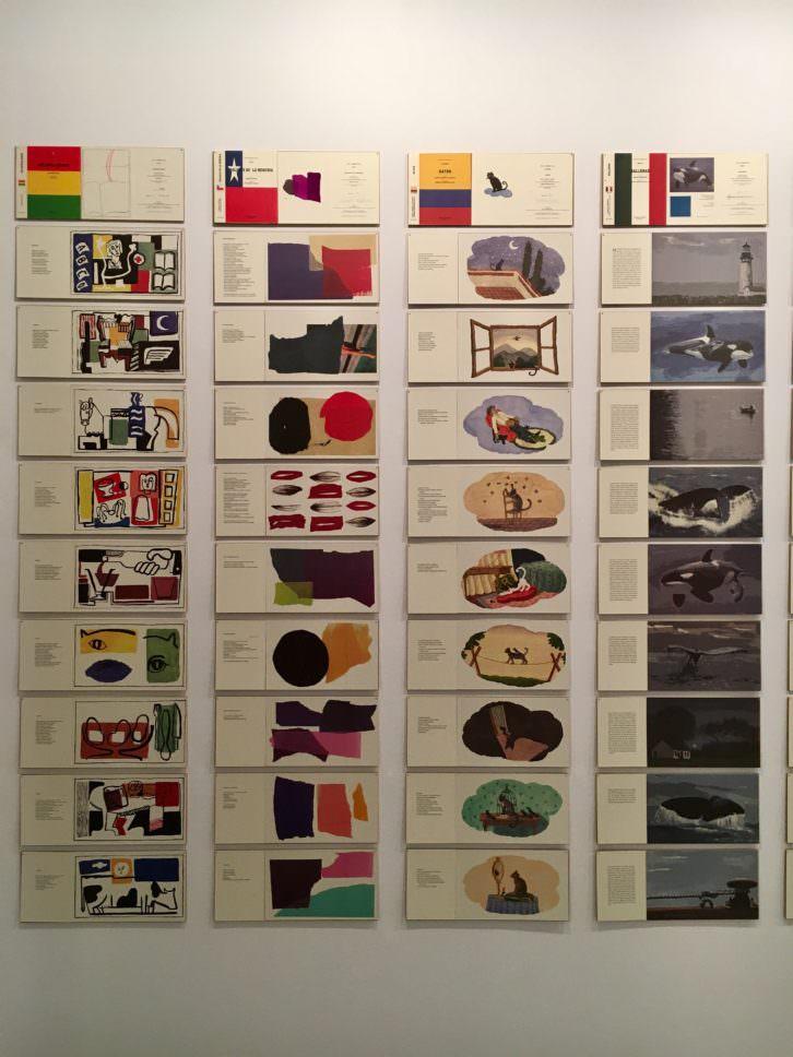 Detalle de la exposición 'La Biblioteca Americana'. Imagen cortesía de la Galería Estampa.