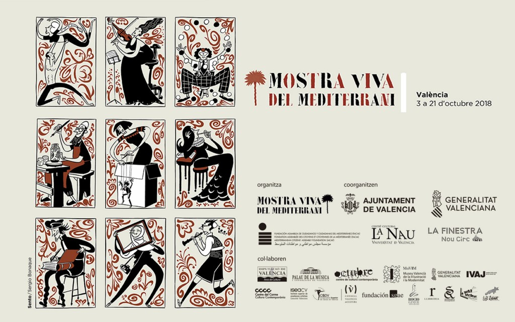 Cartel realizado por Sento Llobell para la sexta edición de Mostra Viva.