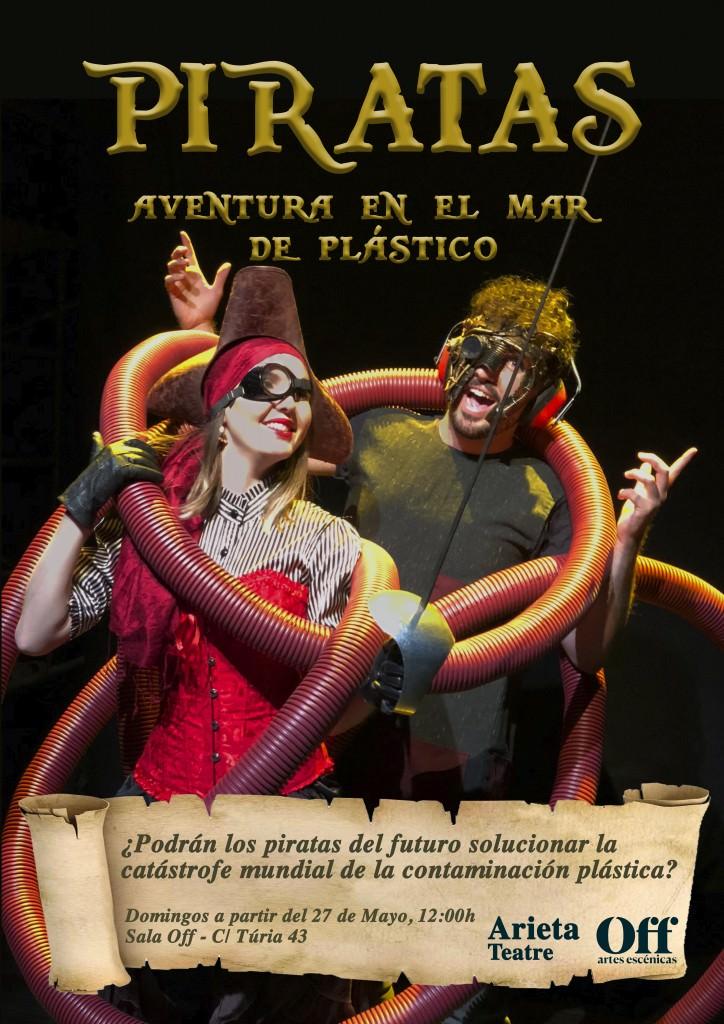 """Cartel de la obra de teatro """"Piratas: Aventura en el mar de plástico"""". Cortesía de la Sala Off."""