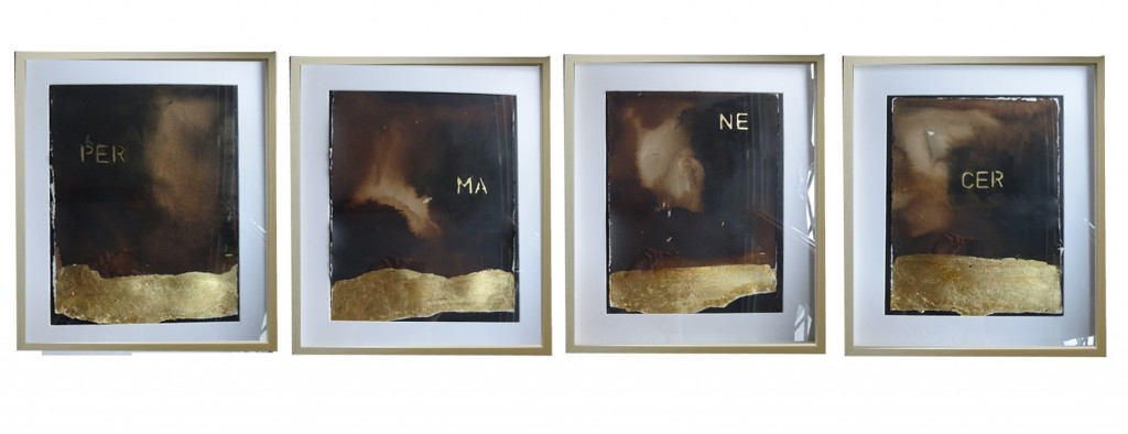Imagen del políptico 'Per-ma-ne-cer', de Endika Basaguren. Fotografía cortesía del artista.