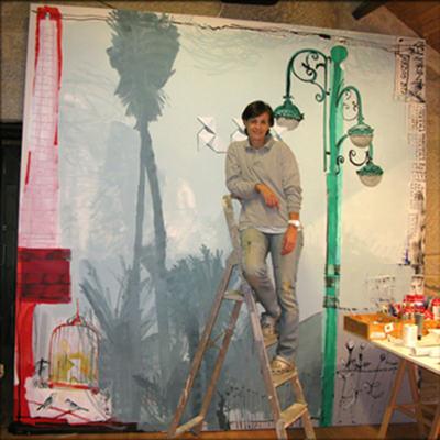 Fotografía del taller de Toya García. Imagen cedida por la artista.