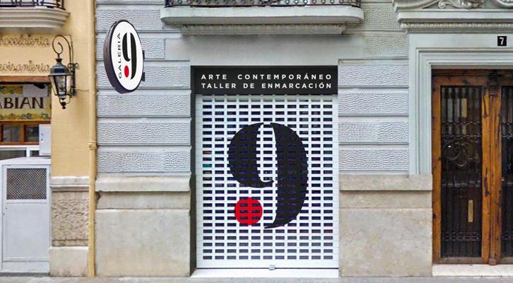 Fachada de la Galería 9 . Imagen extraída de la revista Valencia City 'Galería 9 y su nueva sede' por Lupe Fullana.