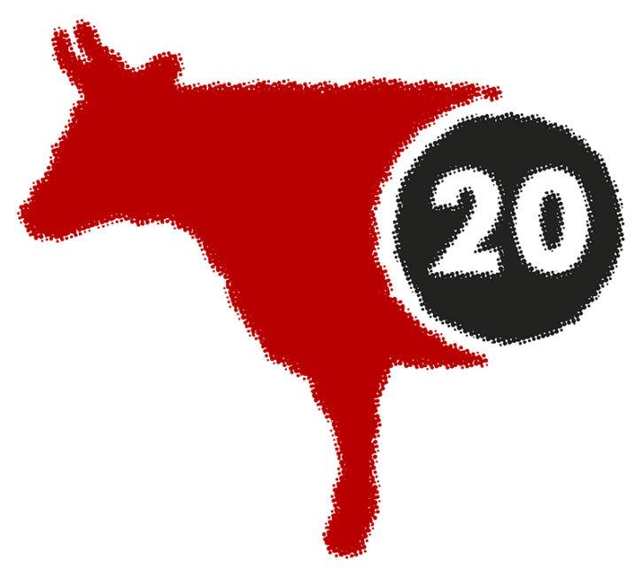 Logotipo de la editorial Media Vaca.