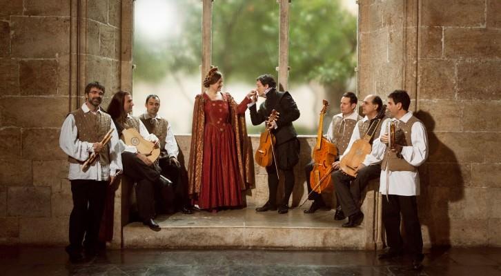 Un instante de la representación de 'Lucrecia Borja', de Capella de Ministrers. Fotografía cortesía de Música en Sant Jeroni.
