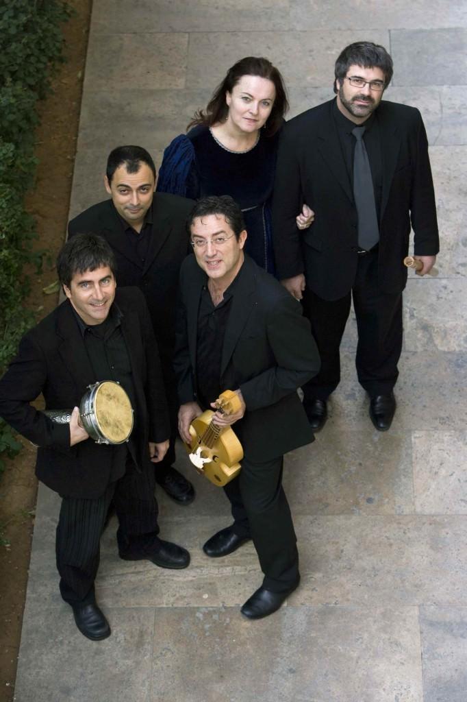 Imagen de los cinco componentes de Capella de Ministrers que participan en el concierto. Fotografía cortesía de Música en Sant Jeroni.