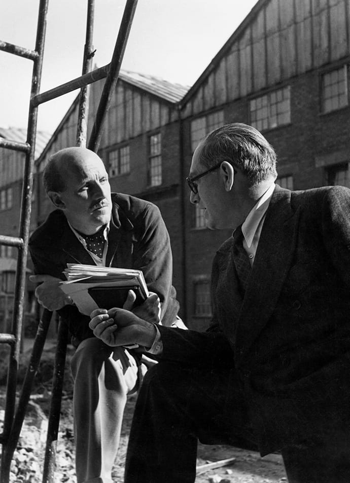 Los cineastas Michael Powell y Emeric Pressburger.