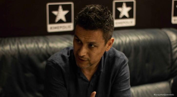 El director Rodrigo Cortés durante un instante de la entrevista con Rafael Maluenda. @insideofjamrock