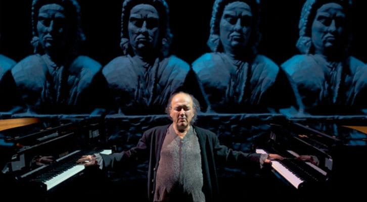 El compositor valenciano Carles Santos. Mostra de València.