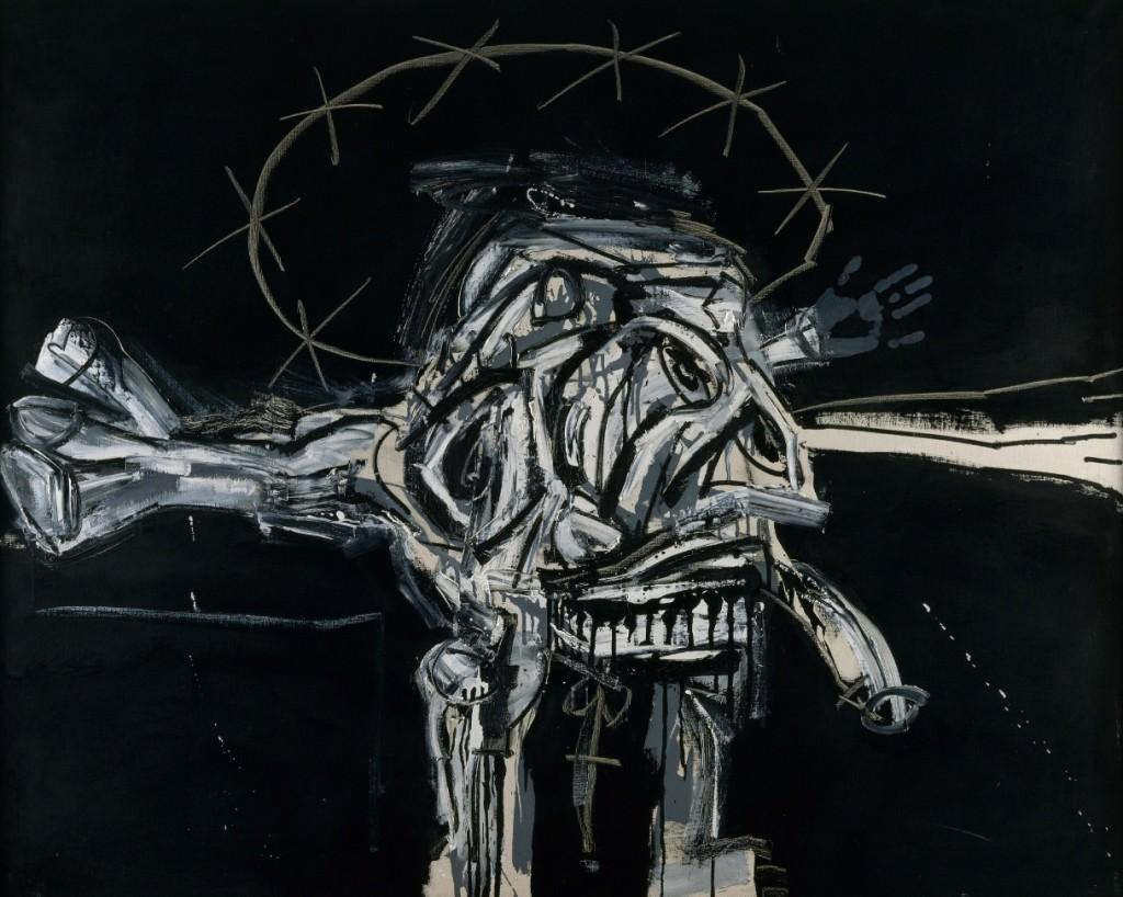Crucifixión, de Antonio Saura. Imagen cortesía del IVAM.