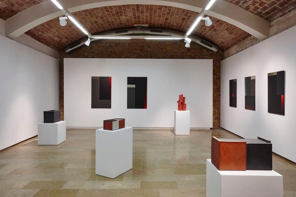 Visión de la exposición de Enric Mestre. Imagen cortesía del E CA de Riba-Roja.