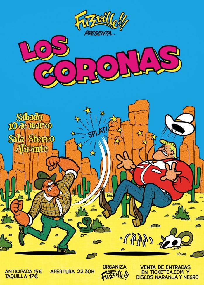 Los Coronas, obra de César Sebastián. Imagen cortesía de La Cabina.