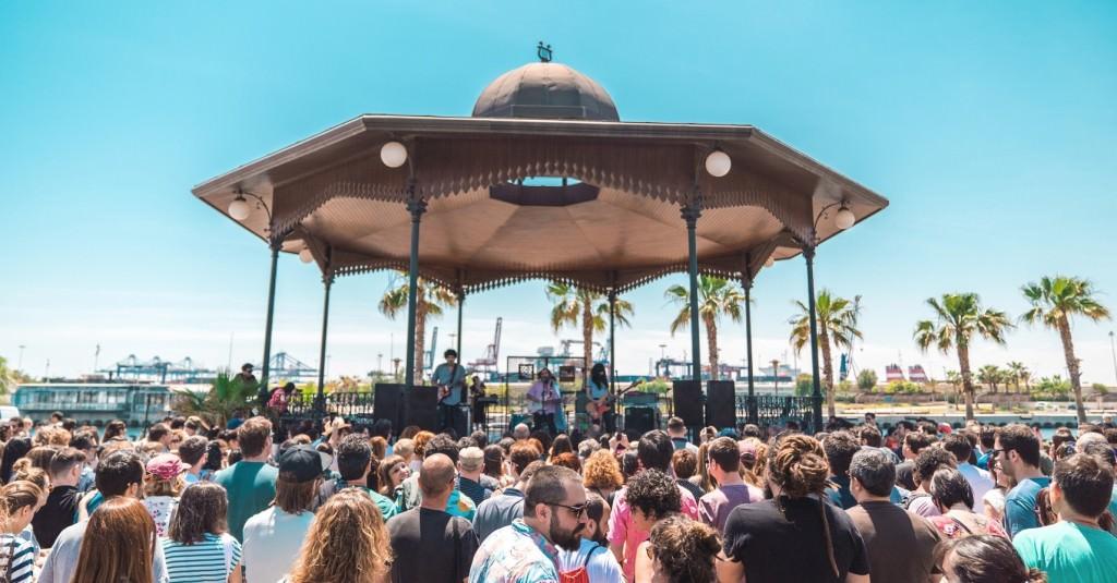 Ambiente en uno de los conciertos de La Marina. Imagen cortesía de la organización.