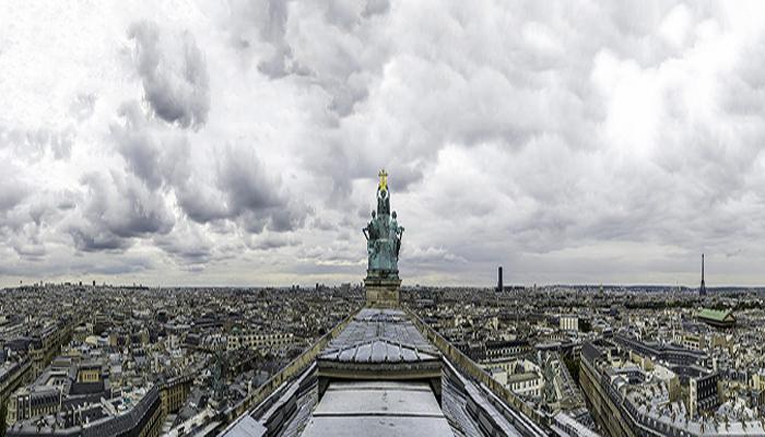 Vista en altura desde la Ópera de Garnier. Obra llamada 'París desde Garnier'. Fotografía capturada por José Manuel Ballester.
