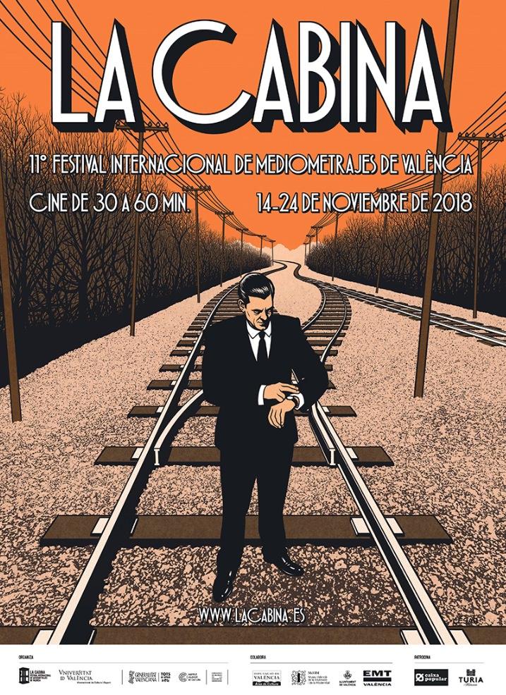 Cartel de La Cabina 2018, obra de César Sebastián. Imagen cortesía del festival.