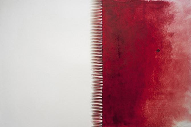 Imagen: Cortesía de Galería Alba Cabrero. Detalle  la portada. Grafías del dolor. Pintura y papel cortado