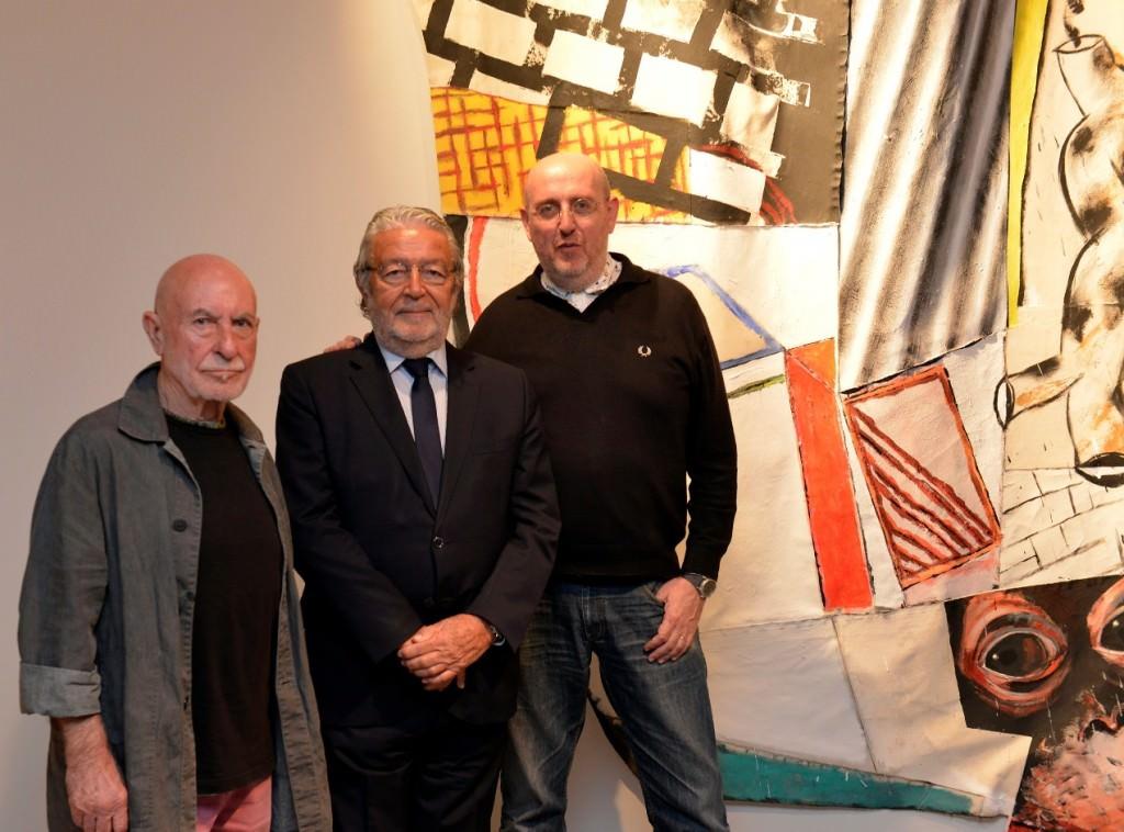 De izda a dcha, Uiso Alemany, Rafael Alcón y Fernando Castro.
