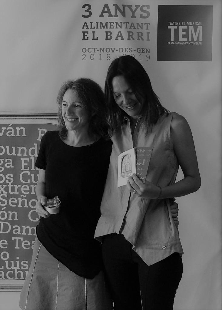 María Oliver y Olga Álvarez presentando la programación de La Mutant y TEM el pasado 4 de septiembre. Imagen, Vicente Chambó