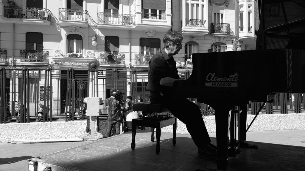 Uno de los actos en homenaje a Carles Santos. Imagen cortesía del IVC.
