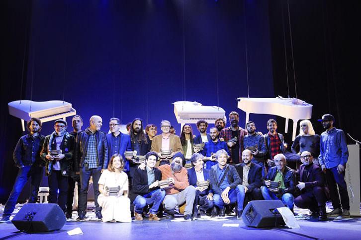 Galardonados en los Premis Carles Santos de la Música Valenciana. Imagen cortesía del IVC.