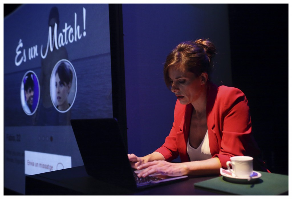 Cristina Fernández en 'Alexandria'. Imagen cortesía del Teatro Rialto.