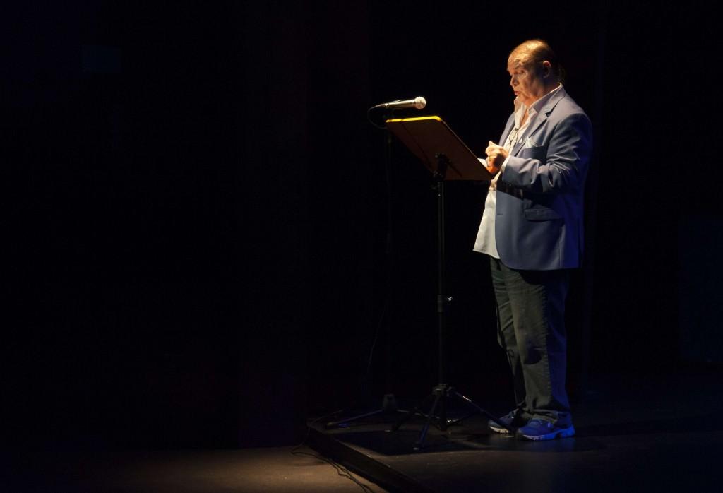 Antonio Campos, La Margot,  durante su intervención en Sala Russafa. Imagen cortesía de Fundación Aisge.