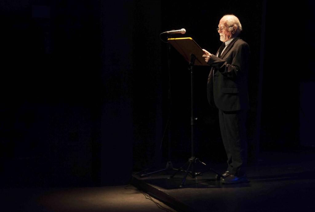 José Soler durante su alocución en la Sala Russafa. Imagen cortesía de Fundación Aisge.