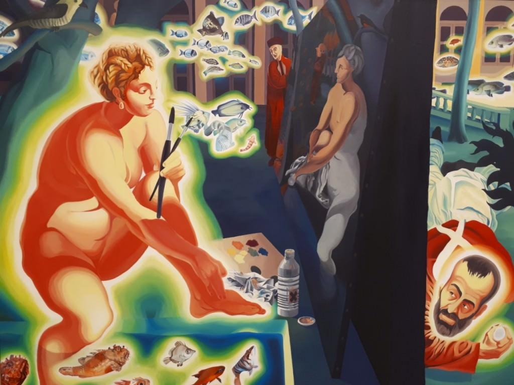 Obra de María Consuelo Vento. Imagen cortesía de la Real Academia de Bellas Artes de San Carlos.
