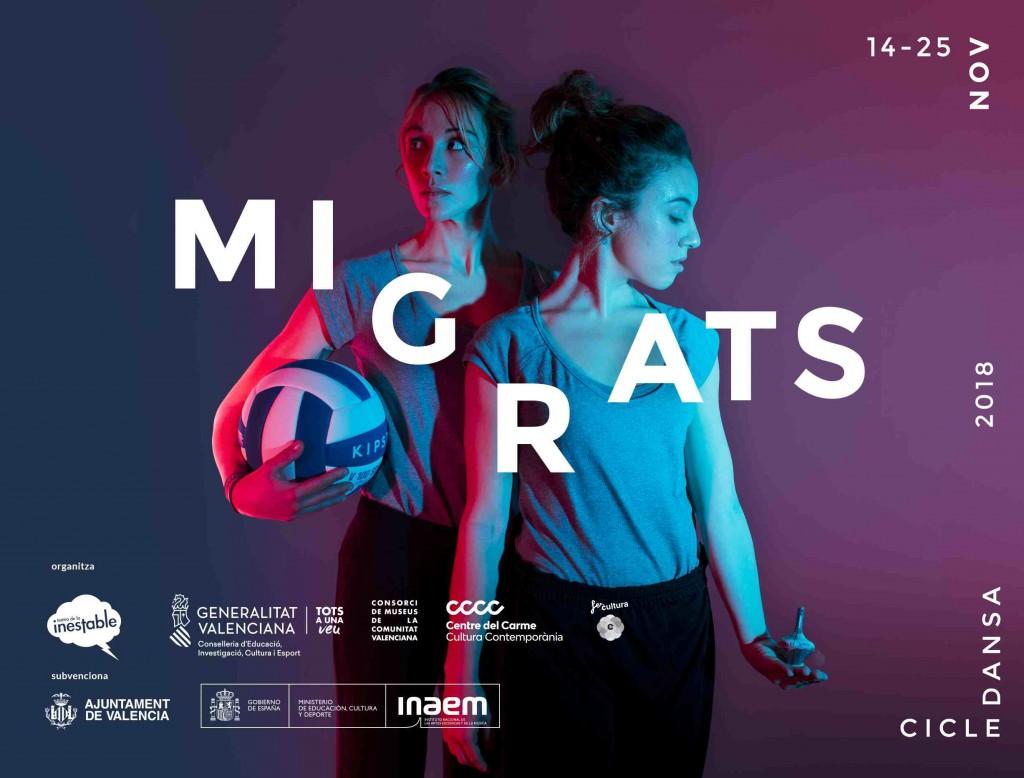 Cartel de 'Migrats'. Imagen cortesía del Centre del Carme.