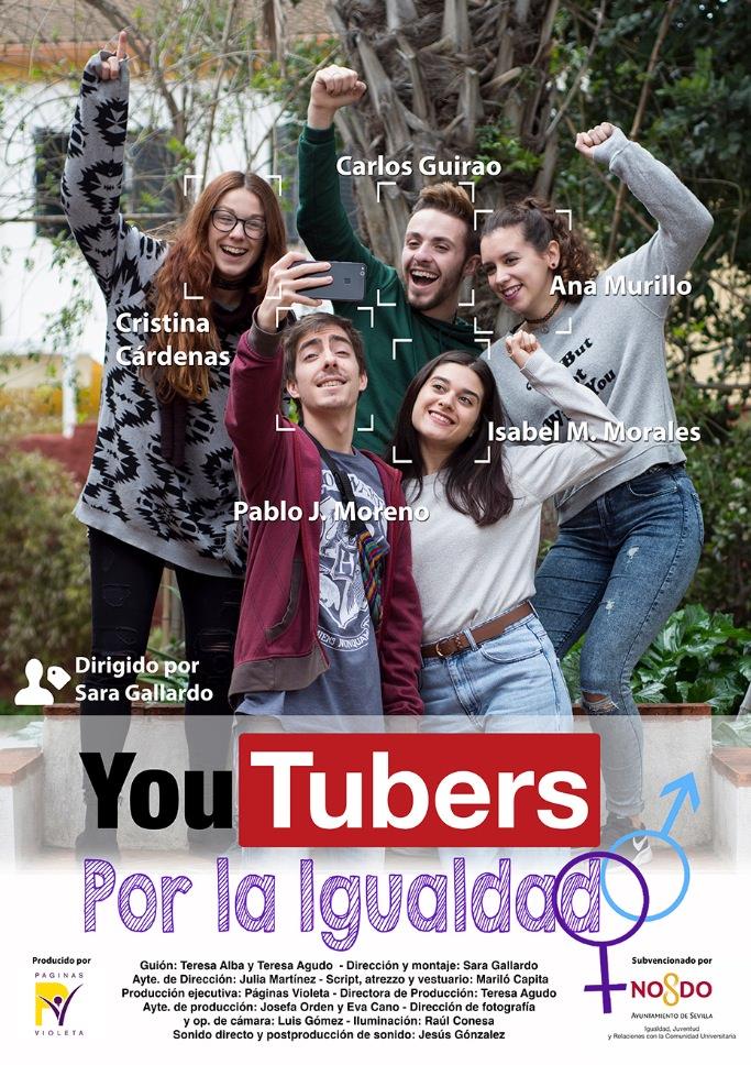 Cartel de 'Youtubers por la igualdad', de Imagen cortesía de Cortos por la Igualdad.