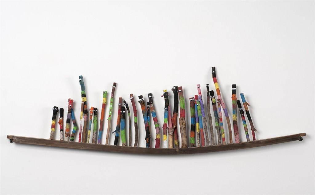 Obra de Moisés Yagües, en colaboración con alumnos de infantil y primaria. Imagen cortesía del autor.