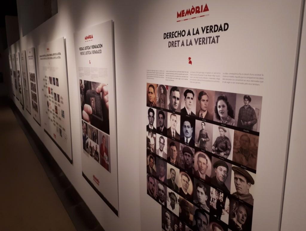 Vista de la exposición 'Exhumando el silencio', en el Palau de Cerveró.
