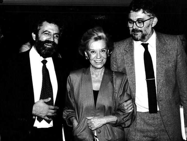 Vicent Garcés, Giulietta Masina y Francesc Carrasco. Imagen cortesía de Mostra de València.