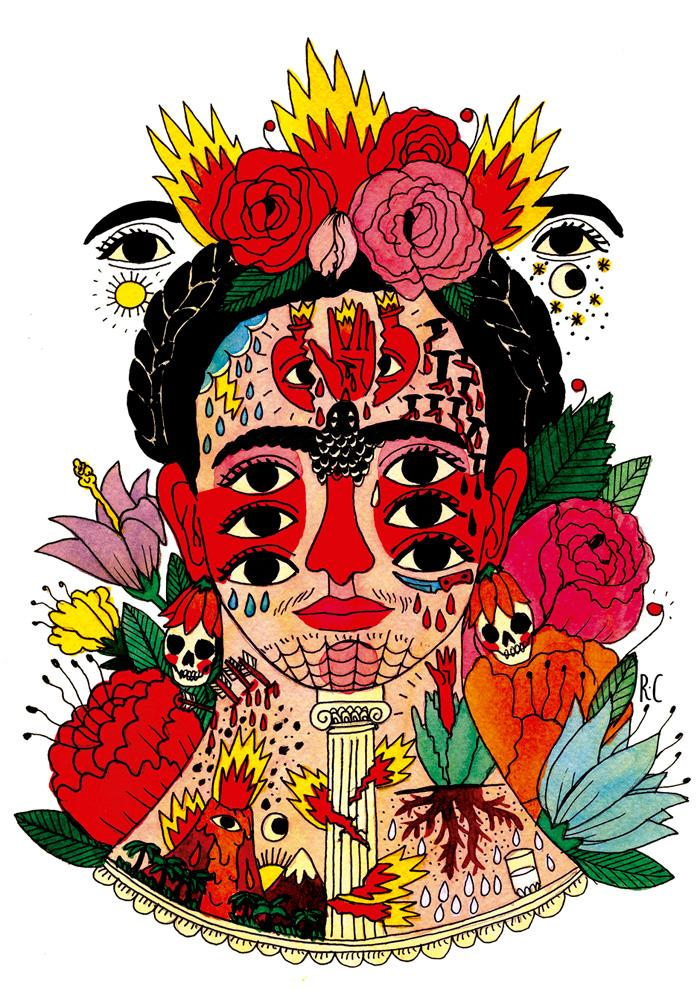 Obra de Ricardo Cavolo. Imagen cortesía de Humans Fest.