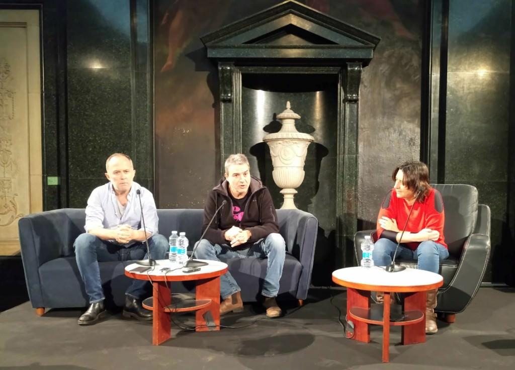 De izda a dcha, Luis Bermejo, Alberto San Juan y Rosa Péres Garijo. Imagen cortesía de la Diputación de Valencia.