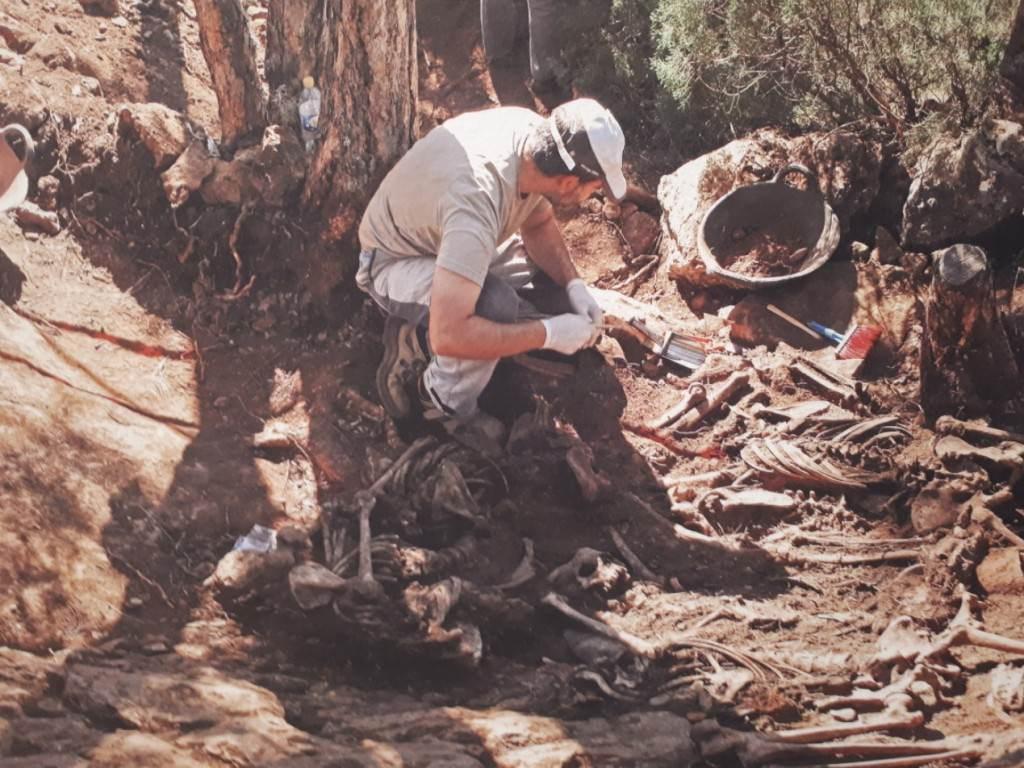 Imagen de la exposición 'Exhumando el silencio', en el Palau de Cerveró.
