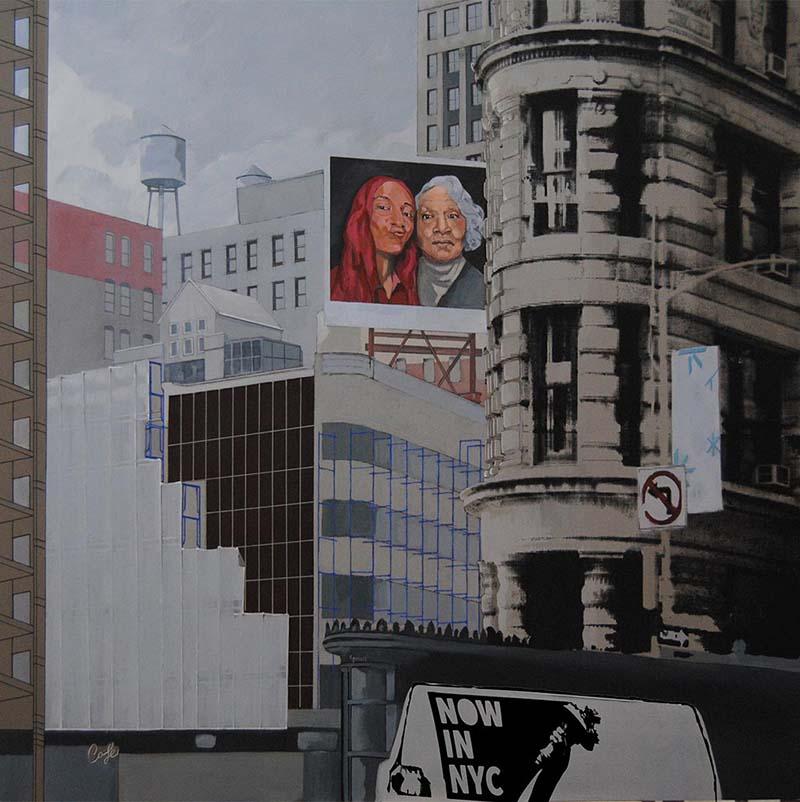 Obra de José Juan Gimeno en la exposición 'Travel Art'. Imagen cortesía de Alba Cabrera.
