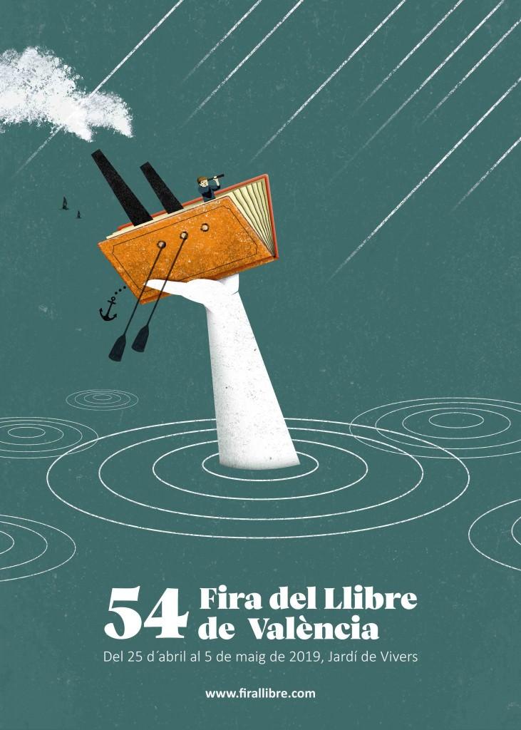 Cartel de la 54 Fira del Llibre de Valèncnia, creado por el artista Pablo Caracol. Fotografía cortesía de los organizadores.