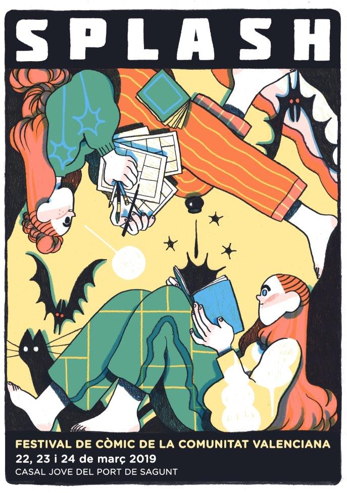 Cartel del Splash Sagunt, obra de Núria Tamarit.