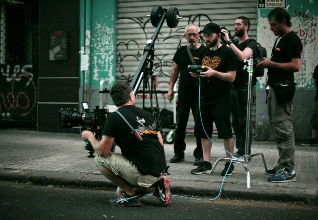 Miguel Ángel Font durante el rodaje de 'Tiempo de blues'. Fotografía de Ruth Diepereux.