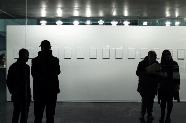 Vista parcial de la exposición desde el Hall del MuVIM. Fotografía de Biel Aliño.