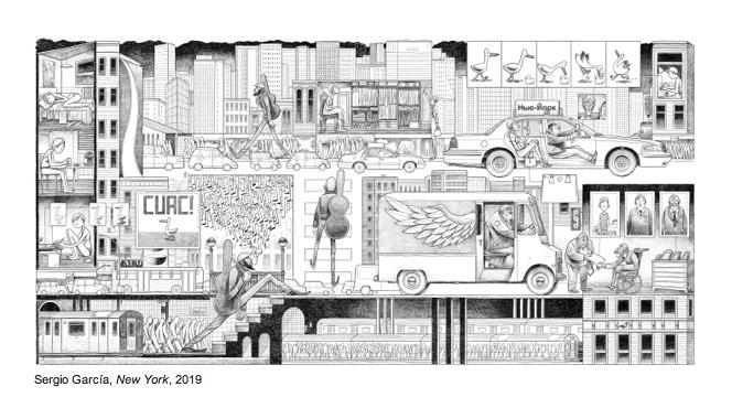 Ilustración de Sergio García por cortesía del Centro José Guerrero.